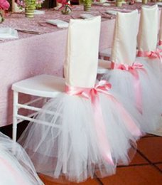 Wholesale 2015 Toto Chair Covers Wedding Supplies Hand Made Cheap Modest Sexy Bow Hot Sale Fashion Hot Sale Tulle Chair Supplies Colorful Sexy Luxury