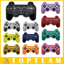 Wholesale Hot PS3 Gamepad Wireless Bluetooth Game Controller Joystick for Android Video Games Controller colors Optional