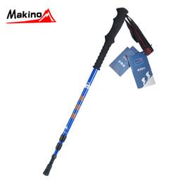 Wholesale-Makino ma outdoor z7075 outdoor hiking pole aluminum rod