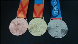 Wholesale Athens Olympic Medals Gold Sliver Bronze High Quality Collection Medals DHL Free