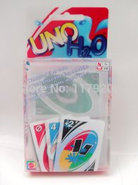 Wholesale New Transparent Plastic Waterproof UNO H2O Card Games Fun Family Party Playing Poker Cards Set Board