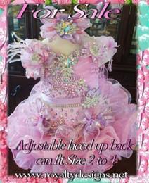 Beaded Sequins Corset Organza Ruffles Infantil Cupcake Pageant Vestidos Vestidos de Baile Mini Girl's Cupcakes Little Rosie vestido corto desde niñas de lentejuelas vestidos del desfile proveedores