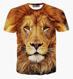 New fashion animal print lion 3d t shirt tiger leopard 3d shirts top for women men plus size causal tee
