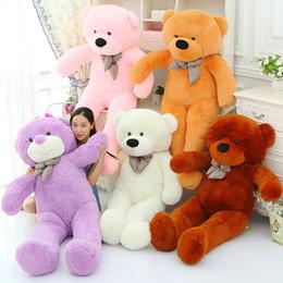 Acheter en ligne Ours saint valentin cadeau géant-Géant Teddy Bear 5Colour Toy Dolls 180cm grands ours en peluche Jouets Chaque festin à jour les cadeaux de votre ami Favorite Valentine cadeau DGFGTFG