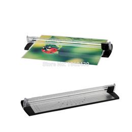 Al por mayor-Marca nueva máquina de corte de papel portátil para A4 de papel manual Trimmer cortador de cuchillas hecho a mano herramienta School Oficina desde recortar las herramientas de corte fabricantes