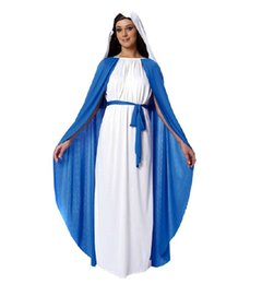 Wholesale Adult Bible Nuns Virgin Mary Dressed New Arrival Classic Halloween Costumes Christmas Makeup Cosplay Dress Masquerade Party Clothes