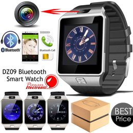 Wholesale Smartwatch Latest DZ09 Bluetooth Smart Watch With SIM Card For Apple Samsung IOS Android Cell phone inch Free DHL