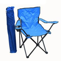 Wholesale Bearing KG Portable Camping Fishing Foldable Chair Oxford Cloth Aluminum Hiking Picnic Outdoor Single Chair Fashion Camp Furniture SK346