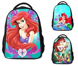 hot sale new Fashion Children School Bags for Teenagers 3D Cartoon Princess Girls School Bag Kids Mermaid Backpack Boys Students Bags