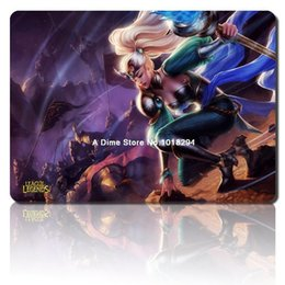 Wholesale lol mouse pad Victorious Janna mousepad laptop Legends mouse pad razer notbook computer gaming mouse pad gamer play mats