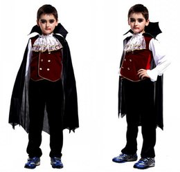 New Children's Halloween Role play the hero The new boy kids vampire costumes Halloween Cosplay costume Free shipping
