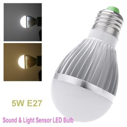 Wholesale Corridor Pathway Stair Garden Yard LED Light Lamp AC85 E27 W W Sound and Light Sensor Auto Detection Light Bulb