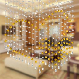 Wholesale customized Christmas Door windows home decoration crystal beads curtain screens room dividers