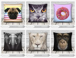 Wholesale-20Hot Sale 40*40cm Dog Lion animals 3d printed Throw Pillow Cushion Pillowcase Bed Set Decorate for Couch Best Quality