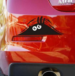 Wholesale New Arrive cm Funny Peeking Monster Auto Car Walls Windows Sticker Graphic Vinyl Car Decals Car Stickers Accessories