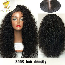 kinky curly human hair wigs 300% density lace front wig lace front wigs for black women with baby hair