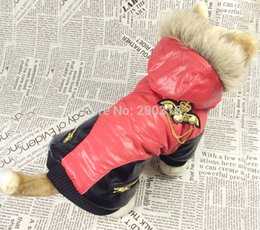 Wholesale-New Coming Metal Label Decor Design Pet Dog's winter coat Free shipping Clothing for Dog