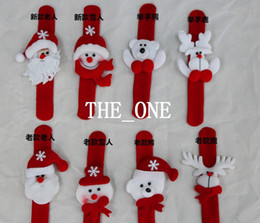 new christmas decoration christmas bracelets christmas slap bracelet christmas wrist band strap stuffed santa claus Snowman Reindeer Bear