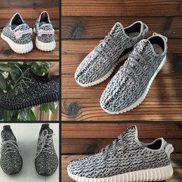 Wholesale 2015 New Sport Shoes yeezy boost Running Shoes Fashion Women and Men Kanye West milan Low Cut Jogging Track Shoes Black Grey