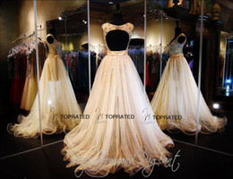 Wholesale Short Prom Gown Homecoming Party Cocktail Mini Graduation Dresses New A Line Scoop Sexy Bare Back Tulle Beads Crystal Detachable Trail