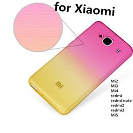 Wholesale New arrive Soft Clear Transparent Ramp Shader Cover Case for Xiaomi mi2 mi3 mi4 redmi note mi tpu Silicone xx1005