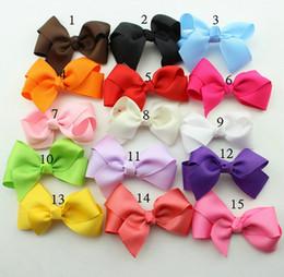 Fashion Baby Hair Bows Clips Boutique Hair Pin Grosgrain Ribbon Bows Hairpins Kids Headwear hair Accessories for girls