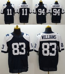 Wholesale Cowboys Throwback Mens Cole Beasley Randy Gregory Terrance Williams Dez Bryant Stitched Jerseys Navy Blue White
