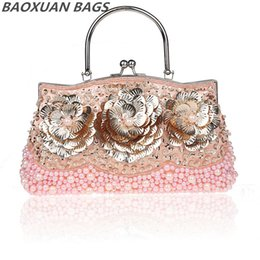 Wholesale Hot beaded evening bags popular in Europe and America art flower beaded bag fashion women party purse B2B0