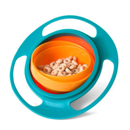 Wholesale hot sale Kid proof bowl Inner bowl rotates degrees Dishwasher safe Universal Baby gyro Bowl Rotating Flying Saucer Toy