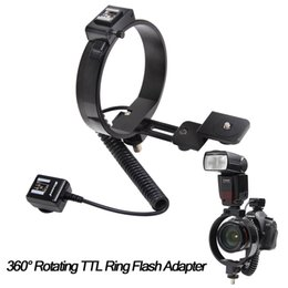 Wholesale TTL360 Degree Rotating TTL Ring Flash Adapter for Canon EOS Nikon DSLR Cameras YONGNUO flash Speedlite