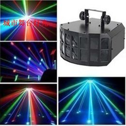 Wholesale New Time limited Dj Controller Laser Projector Smoke Machine Light Beads w High Power Led Butterfly Lamp Ktv w Beam
