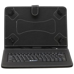Wholesale IRULU Inch Mirco USB Keyboard Case PU Leather Foldable Foding with kickstand Stand Cover Cases for Inch Tablet PC