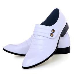 Wholesale Hoteles de Novio de la Boda Zapatos de Hombre de Respirar libremente Zapatos de Cuero de Negocios de Zapato de Vestir de una Sola zapatos DY Blanco