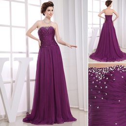 Wholesale Advanced Customization Stunning Strapless Beaded And Sequins Plus Size Purple Evening Dresses On The World s Largest Fashion Site