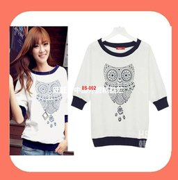 women girl Animal O-neck fashion autumn T-shirts