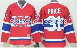 Wholesale 2015 Canadians Carey Price Youth Jersey Red Home Stitched Montreal Canadiens Youth Kids Hockey Jerseys Shirt Top Quality