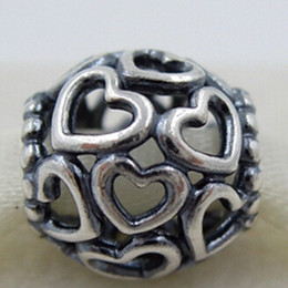 High-quality 100% S925 Sterling Silver Open Your Heart Charm Bead Fits European Pandora Jewelry Bracelets Necklaces & Pendant