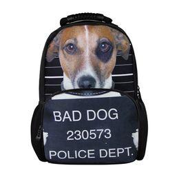 Wholesale Animal Design Bad Dogs Men s Backpack D Print Shoulder Rucksack Women Casual Daily Back Pack School Kids Travel Bag Bookbags A