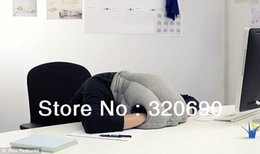 Wholesale retail News Magic Ostrich Pillow Everywhere Nod Off to Sleep Neck Protection Pullover Office Car Nap Cotton