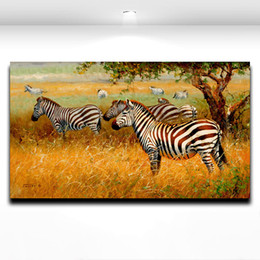 African Wild Animal Zebra Painting Printed on Canvas Modern Mural Art Picture for Home Living Room Wall Decor