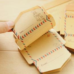 Papelería sobre de papel en Línea-Las PC al por mayor-50 / los mini efectos de escritorio retros de papel de Kraft de la vendimia de la vendimia de los efectos de escritorio lindos de papel de Kawaii de la historieta liberan el envío 710