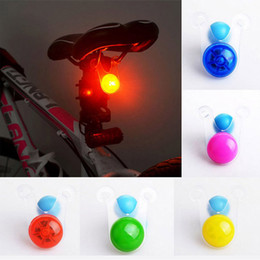 New Silicone Multi-colors High Bright Led Bike Seat Light Led Bicycle Safety Rear Light 3 Flashing Mode.