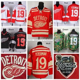 Factory Outlet, Cheap Vintage #19 Detroit Red Wings Steve Yzerman Jersey Winter Classic CCM Home Red Steve Yzerman Throwback Jersey With C P