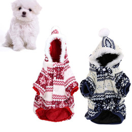 Wholesale Hot Sale Soft Warm Christmas coat pet Dog Pet Clothes Apparel Hoodie Hooded Coat for Winter H13289