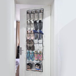 Wholesale 22 Pockets Transparent Hanging Closet Layers Foldable Door Hanging Shoes Storage Bag Multi purpose Hanging Bag Shoes Organizer H15833