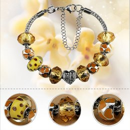 1pcs lot luxury authentic Sterling Silver Murano Glass Beads Charm Bracelets Fit for fashion sterling silver 925jewelry