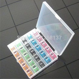 Wholesale 1Set Hot Empty Bobbin Sewing Machine Colorful Spool Brother Babylock Singer Cases hph