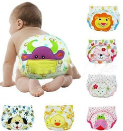 Wholesale 200pcs cartoon baby training pants cloth diaper cover waterproof diaper baby panties newborn underwear Reusable