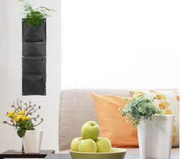 Wholesale 5units Pocket Vertical Green Wall Planters potato bag vertical garden planter Flower Bags DIY Indoor Garden bag