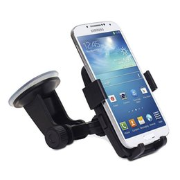 Wholesale Sticky Mobile Holder - Support Stand 360°Rotation In-car Mount Bracket Holder For Mobile Phone PDA GPS,Reusable innovative ultra sticky suction pad will stick to a